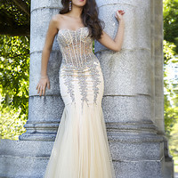Strapless mermaid gown 5908 - Prom Dresses