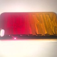Victoria's Secret Pink Metallic iPhone 5 Hard Case Pink/Orange