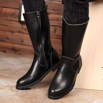 Winter Genuine High Quality Leather Long Boots