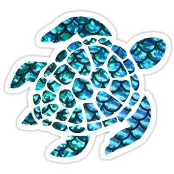'Blue Sea Turtle ' Sticker by ari3