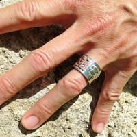 mans ring for men silver chunky made to order ooak australia copper handmade