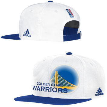 Golden State Warriors adidas 2014 Authentic On-Court Adjustable Strapback Hat - White