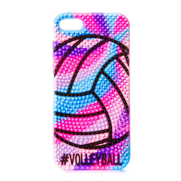 #Volleyball Nubby Texture Rainbow Cover for iPhone 5, 5s and 5c