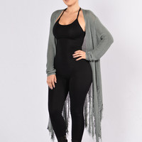 Shready or Not Cardigan - Teal