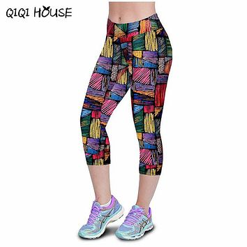 Leggings Women Fitness summer casual Pants Marque Fille Fitness Printed Stretch Top Leggings femmes pantalons #3546