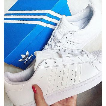 """""""Adidas"""" Casual Running Sport Shoes Sneakers All white"""