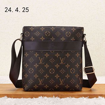 LV 2018 new casual men's business style briefcase shoulder bag Coffee Monogram