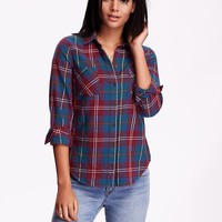Women's Classic Plaid Flannel Shirt