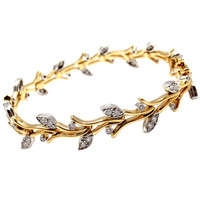 Tiffany & Co. Garland Diamond Platinum 18k Gold Bracelet