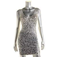 Jovani Jeweled Mini Semi-Formal Dress