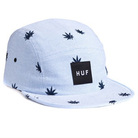 HUF: Embroidered Plantlife 5 Panel Hat - Blue Oxford