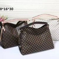 LV Women Shopping Bag Leather Tote Handbag Satchel Bag