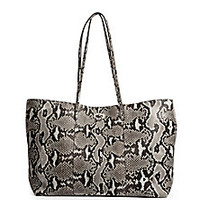 Fendi - Carla Python-Embossed Leather Tote - Saks Fifth Avenue Mobile