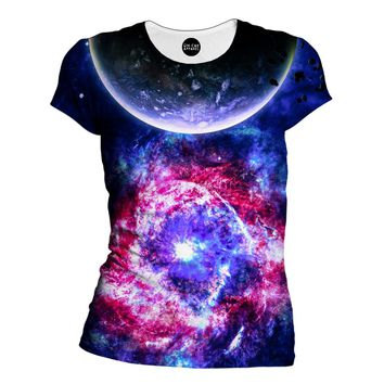 Planetary Gleam Womens T-Shirt