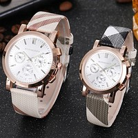 Perfect Burberry Couple Fashion Quartz Watches Wrist Watch