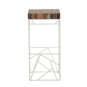 Rubic Bar Stool White