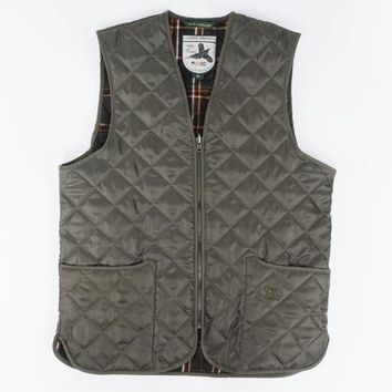 Over Under Clothing, Men's Quilted Briar Vest, Green
