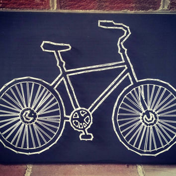 Bicycle String Art, Bike lover gift idea, triathlon string art