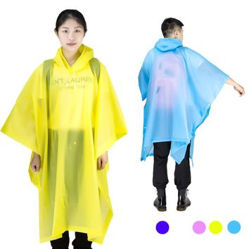 Universal Rainwear Men Transparent Raincoat Women Poncho Rain Coat Cover Impermeable Camping Capa de chuva Feminina chubasquero