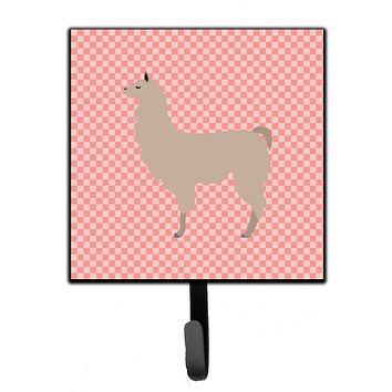 Llama Pink Check Leash or Key Holder