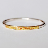 Thin Reticulated Brass Ring