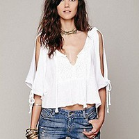 Jen's Pirate Booty  Boxy Open Shoulder Top at Free People Clothing Boutique