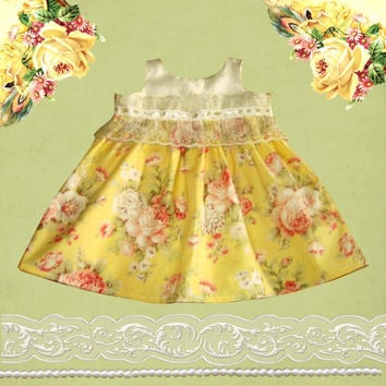 Rose Garden Blessings Dress in sizes 3 to 24 momths, birthday or special event dress.