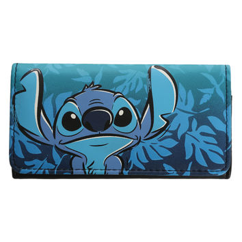 Disney Lilo Stitch Hawaiian Flap Wallet