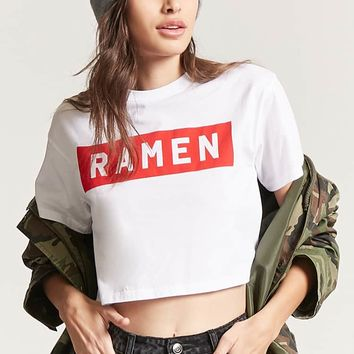 Cropped Ramen Graphic Tee
