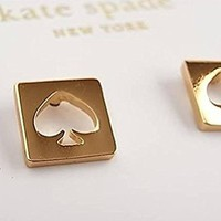 Kate Spade Punch Stud Earrings, Gold