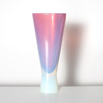 Sommerso Vase- Pink Amethyst Cenedese Opalescent