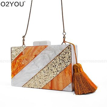 Women Clutch New Perspective Acrylic Box Ceometric Puzzle Clutch Acrylic Fashion Wedding Party Purses Bag Acrylic Evening Clutch