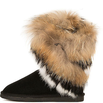 Women's Giselle-KLH-1 Fur Boot | Shiekh Shoes