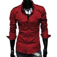 The Marshall Tailored Fit Shirt Red