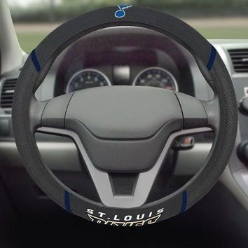 St Louis Blues Embroidered Steering Wheel Cover