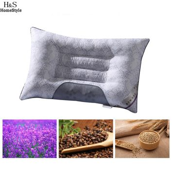 Semi-magnetic Buckwheat Pillow Pillow Picture Neck Breathable Orthopedic Cassia Cervical Health As Lavender Pillow