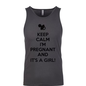 Keep Calm I'm Pregnant And It's A Girl Men's Tank
