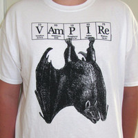 SALE Vampire Bat tee shirt Halloween ElementeesTM  tee shirt for the nerd in you