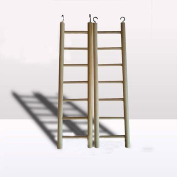 Wood High Quality Birds Wooden Ladders Climbing The Ladder Bird Cage Accessories Hamsters Parrot Toys Pet Supplies Hot Sale
