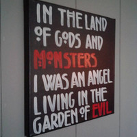 Gods and Monsters 12''x12'' Canvas Painting