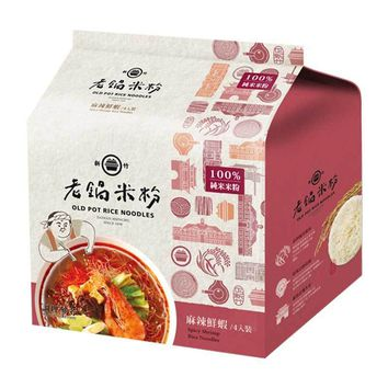 Thin Rice Noodles with Spicy Shrimp by Old Pot, 8.5 oz (240g)