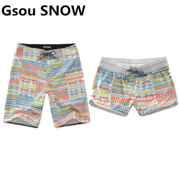 GS Women Summer Couples Swimwear Men Swimming Shorts Rash Guard Beach Boardshorts Swimsuit for Surfing de Bain Homme