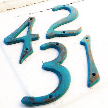 Metal House Numbers, Iron Decor, Cast Iron Numbers, Anthropologie Decor, Classic Numbers, Silver and Black Deco