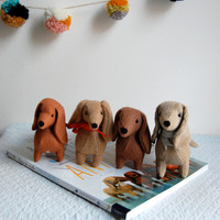 SALE Felt Dachshund by sian on Etsy