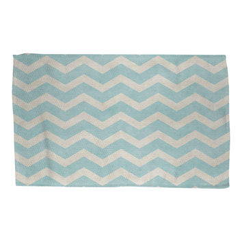 Sea Salt Chevron Rug