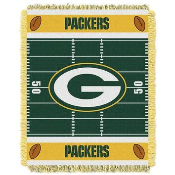 "Green Bay Packers NFL Triple Woven Jacquard Throw (Field Baby Series) (36x48"")"""