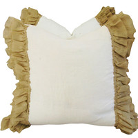 French Linen &  Ruffle Trim Pillows, Pr