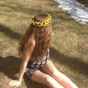 Sunflower Flower Crown by CasesbyOliviaRose on Etsy