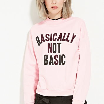 Not Basic Graphic Sweatshirt