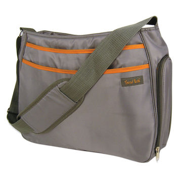 Trend Lab Baby Nappy Changing Mother Shoulder Diaper Bag - Hobo Gray/Orange